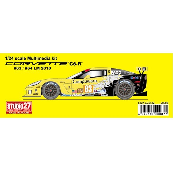 1/24 Corvette C6R #63/64 LM 2010 STUDIO27 【Multimedia Kit】