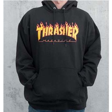 THRASHER FLAME LOGO PULLOVER HOOD 【スラッシャー】【パーカー】【フード】【スケボー】【スケートボード】【SKATEBOARD】