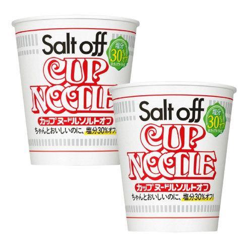 数量限定 24食 日清 カップヌードル ソルトオフ 塩分30%オフ 日本産 12個入 79g 2箱