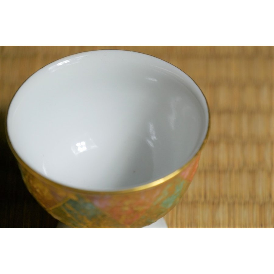 彩色金彩杯 緑 九谷焼 吉田幸央造|ito-shoyudo|06