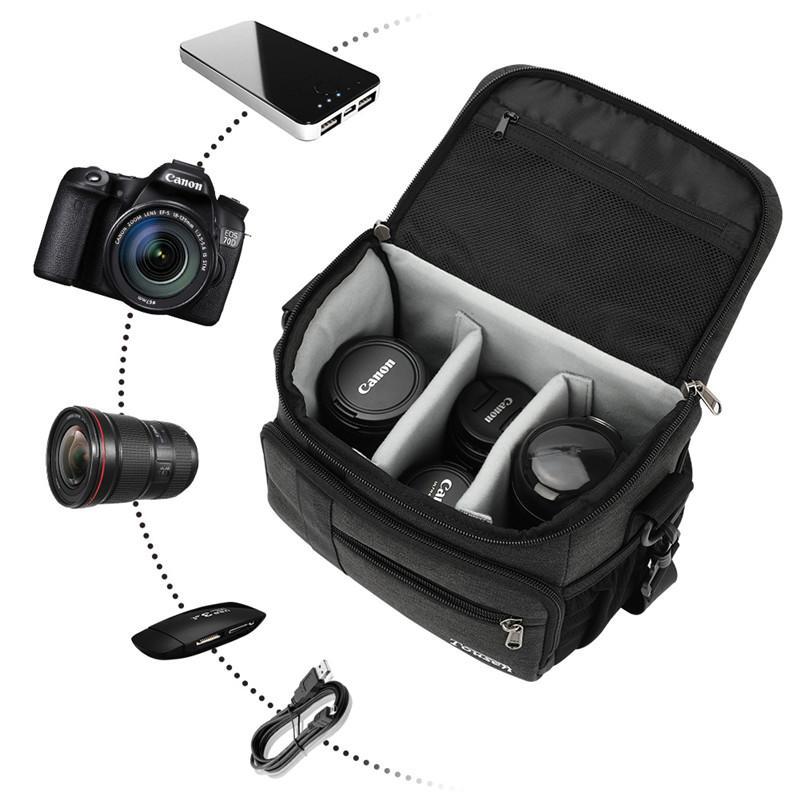Tousen ショルダーカメラバッグ カメラバック 一眼レフ カメラ バッグ 斜め掛けカメラケース デジタルカメラバッグ  デジタルカメラ用バッグ|itousen-store|02