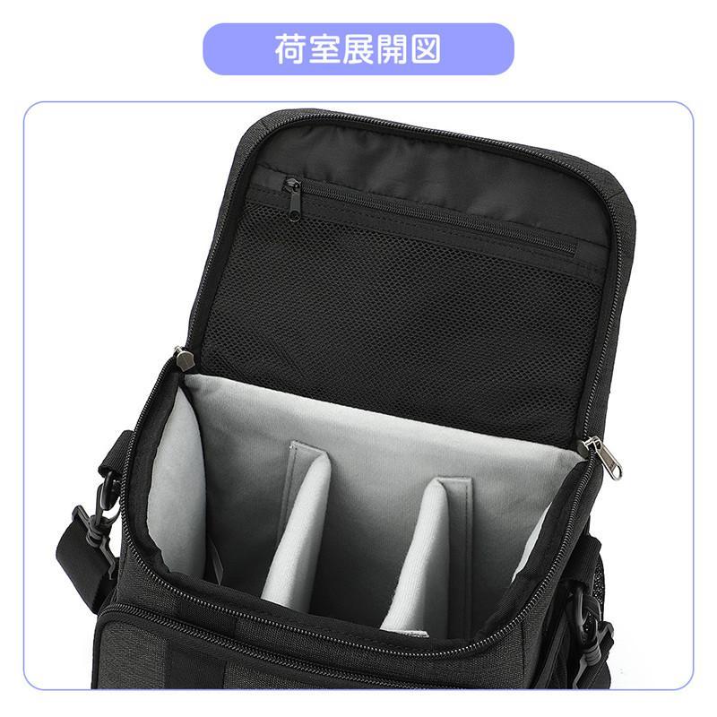 Tousen ショルダーカメラバッグ カメラバック 一眼レフ カメラ バッグ 斜め掛けカメラケース デジタルカメラバッグ  デジタルカメラ用バッグ|itousen-store|13