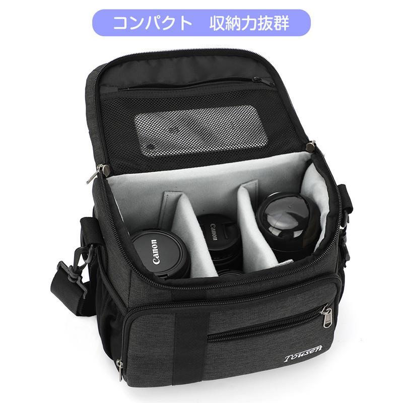 Tousen ショルダーカメラバッグ カメラバック 一眼レフ カメラ バッグ 斜め掛けカメラケース デジタルカメラバッグ  デジタルカメラ用バッグ|itousen-store|15