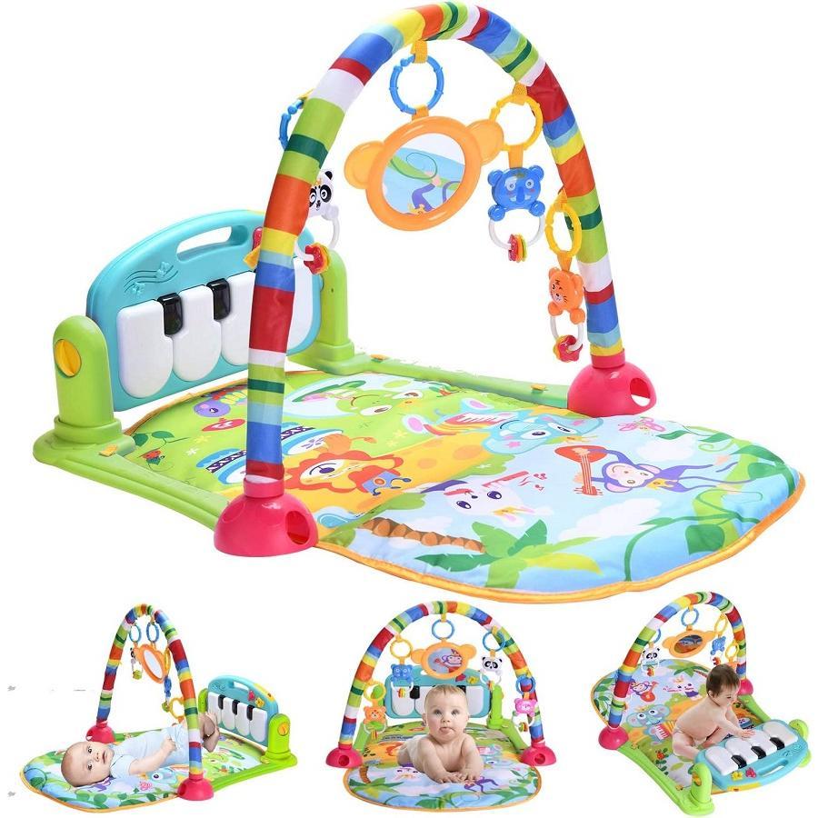 ベビー 期間限定の激安セール プレイマット おもちゃ 赤ちゃん ジム 音楽 ライトプレイマット 感覚刺激 新作続 新生児 ピアノ 出産祝い 早期教育 プレイ プレゼント