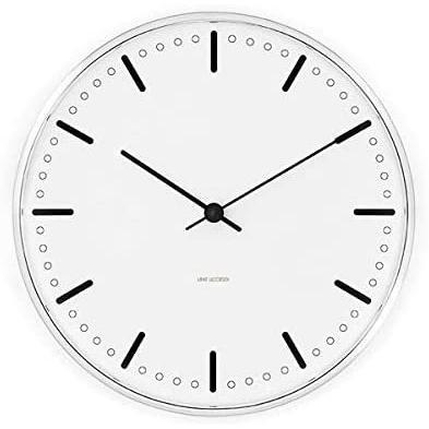 [アルネ·ヤコブセン] Clock 43641(City Hall 290mm) ホワイト FREE