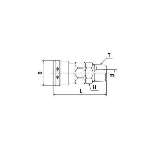 日東工器 低圧用ハイカプラ ソケット(めねじ取付用) Rc3/4 ステンレス鋼 1個入 600SM-X100-SUS
