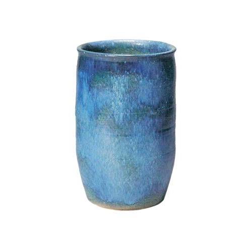 ヤマ庄陶器 傘立て ブルーなど 36×57cm 信楽焼 青海傘立