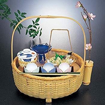 山下工芸(Yamasita craft) 青竹花篭膳 板付 31146000