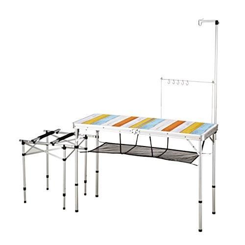 KOVEA(コベア) 2WAY キッチンテーブル 2 WAY KITCHEN TABLE (L) II 高さ2段階調節 正規品 ミックスカラ
