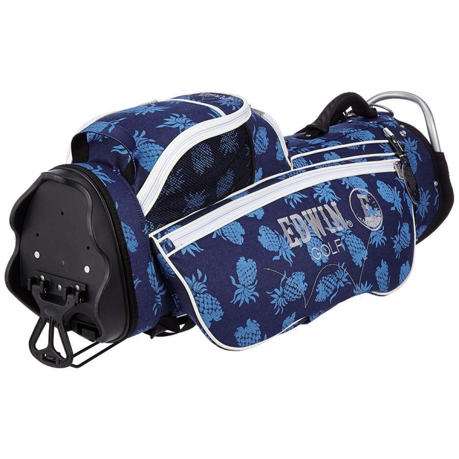 エドウィンゴルフ スタンドキャディバッグ EDWIN-038S ブルー