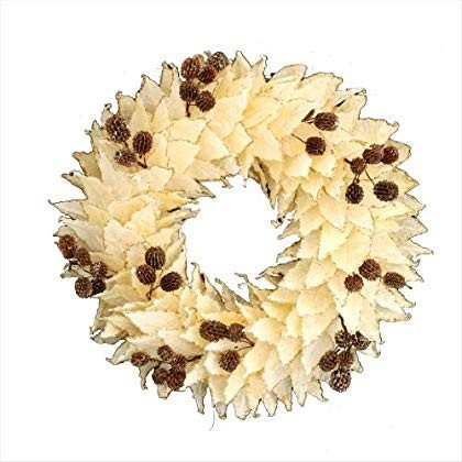 彩かSAIKAクリスマス リース Panga Leaves & seeds Wreath M PXD-129