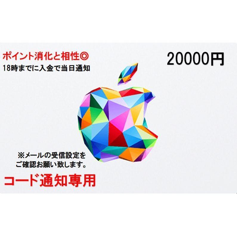 国内送料無料 iTunes Card アイチューンズ カード Apple 贈答 コード通知 20000円券