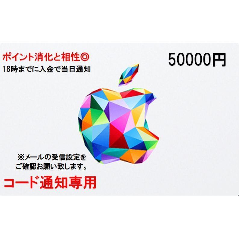 iTunes Card アイチューンズ カード 50000円券 気質アップ Apple オンラインショッピング コード通知