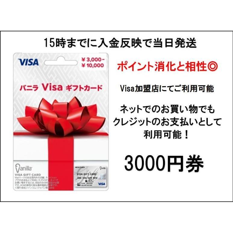 バニラVisaギフトカード スーパーセール期間限定 ショップ プリペイドカード 3000円分
