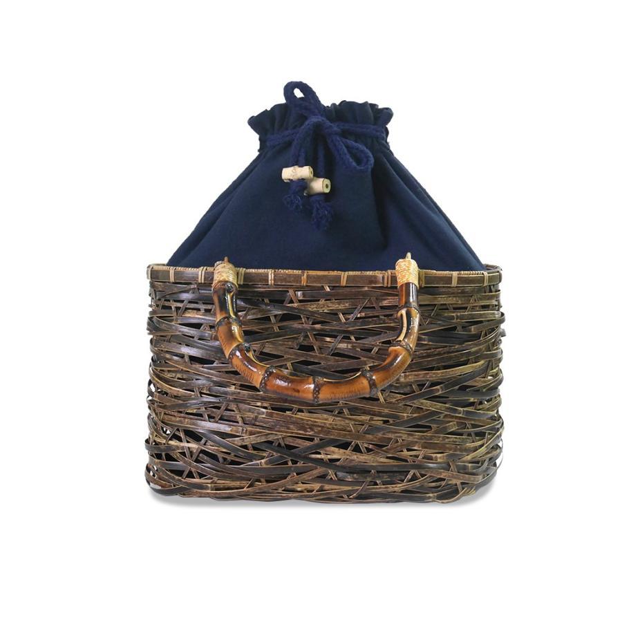 (イウハ) IUHA 和風バッグ 巾着  まだら竹 レディース 浴衣 リゾート 自然素材 夏  軽量 花火大会|iuhacom|02