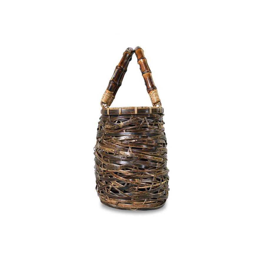 (イウハ) IUHA 和風バッグ 巾着  まだら竹 レディース 浴衣 リゾート 自然素材 夏  軽量 花火大会|iuhacom|03