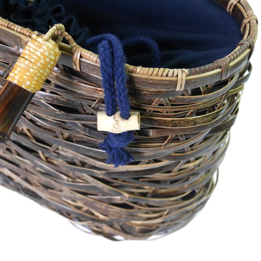 (イウハ) IUHA 和風バッグ 巾着  まだら竹 レディース 浴衣 リゾート 自然素材 夏  軽量 花火大会|iuhacom|04