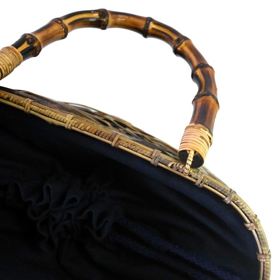 (イウハ) IUHA 和風バッグ 巾着  まだら竹 レディース 浴衣 リゾート 自然素材 夏  軽量 花火大会|iuhacom|05
