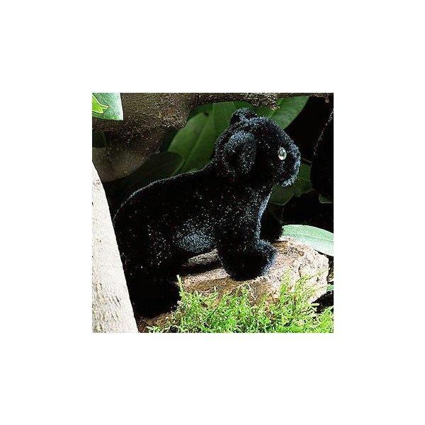 """テディベア ぬいぐるみ パンサー(黒ヒョウ)の子 KOSEN(ケーセン社) 16cm """"Rangi"""" 黒 Panther Baby/ぬいぐるみ"""