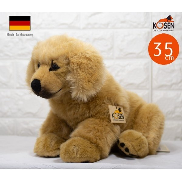 テディベア ぬいぐるみ ゴールデンレトリバーの赤ちゃん 座り KOSEN(ケーセン社) 35cm ゴールドen Retriever Puppy/いぬ/ぬいぐるみ