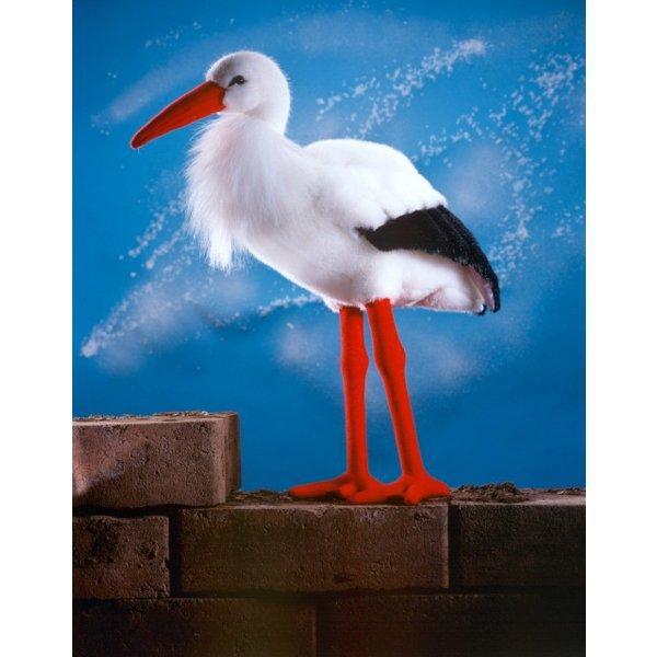 """テディベア ぬいぐるみ コウノトリ KOSEN(ケーセン社) 44cm """"Adebar"""" Stork/鳥/ぬいぐるみ"""