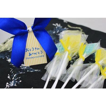 父の日ギフト 父の日 プレゼント ギフト 贈りもの 京都 和菓子 キャンディーブーケハンカチ包みセット 送料無料【限定50セット】 iwaiseika 03