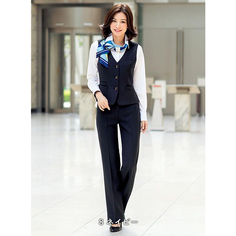パンツ LP6122 ネイビー 紺 ブラック 黒 5号〜21号 ホームクリーニング ストレッチ素材