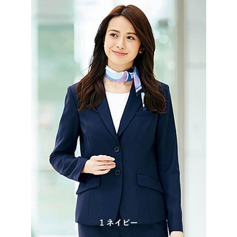 ジャケット テーラード ネイビー 紺 ブラック 黒 グレー 5-23号 制服 オフィス 事務 事務服 企業