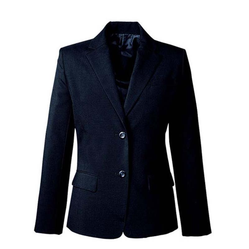 ジャケット 定番 ネイビー 紺 グレー 5-19号 制服 オフィス 事務 事務服 企業制服 レディース
