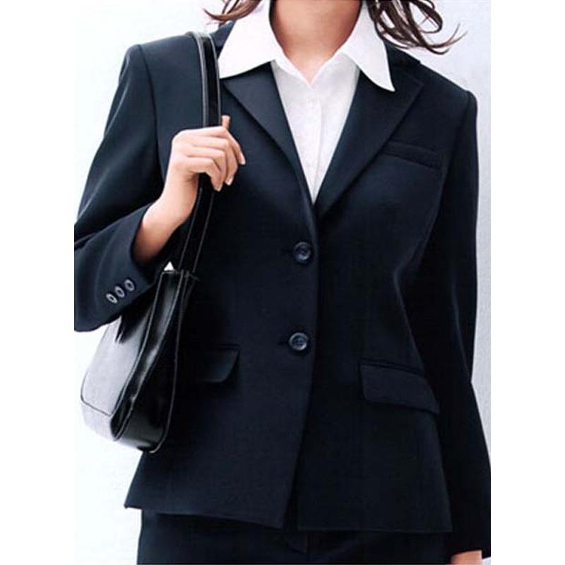 ジャケット 定番 ネイビー 紺 ブラック 黒 5-19号 制服 オフィス 事務 事務 事務 事務服 企業制服 レディース aa1