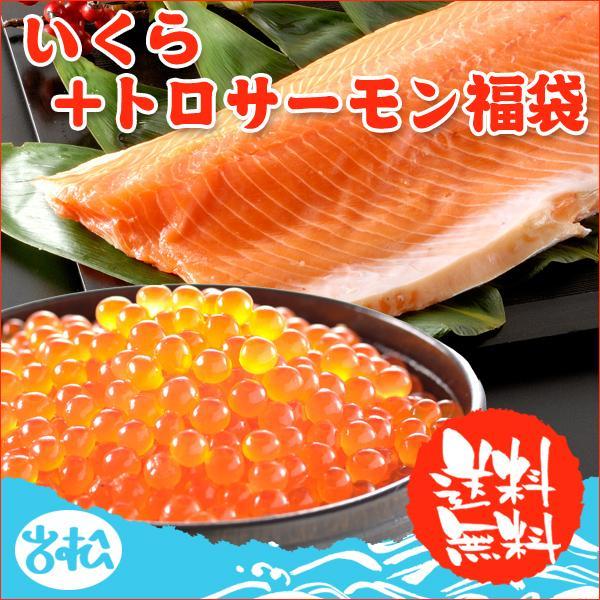 父の日 プレゼント グルメ ギフト いくら 醤油漬け アラスカ 200g トロサーモン 半身 1kg 送料無料 福袋|iwamatsu-salmon