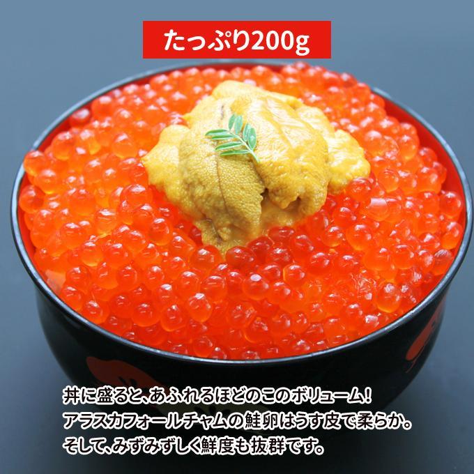 父の日 プレゼント グルメ ギフト いくら 醤油漬け アラスカ 200g トロサーモン 半身 1kg 送料無料 福袋|iwamatsu-salmon|03