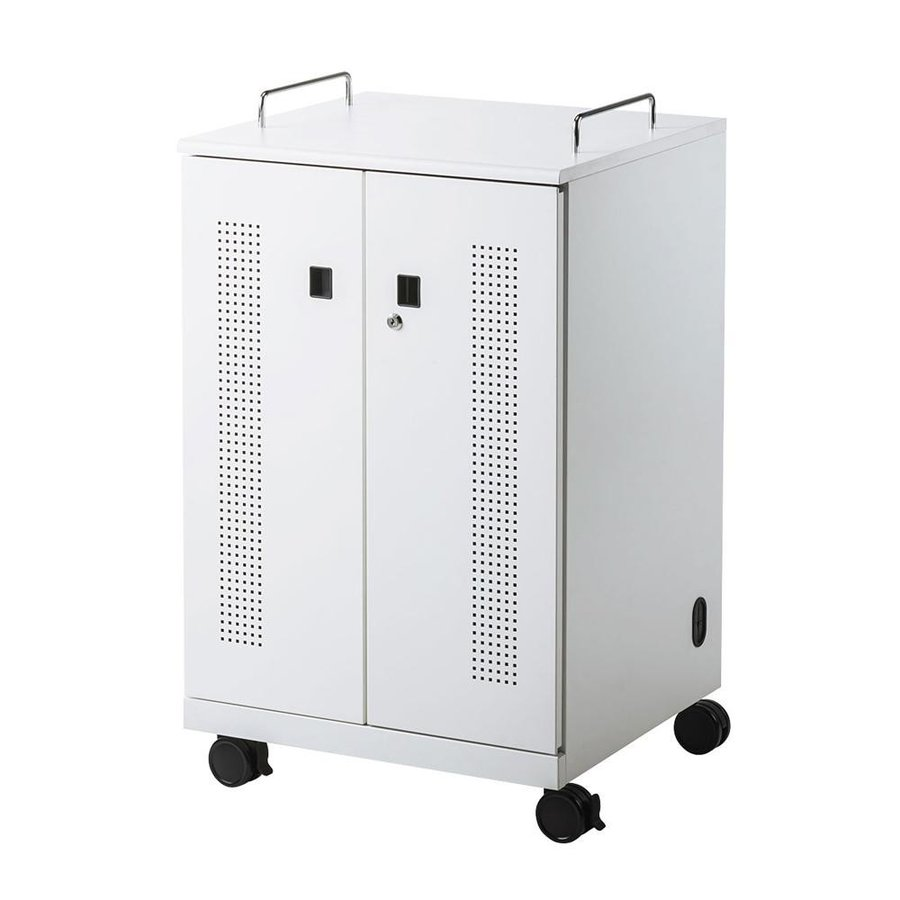 【代引き不可】サンワサプライ 【代引き不可】サンワサプライ ノートパソコン収納キャビネット(12台収納) CAI-CAB104W