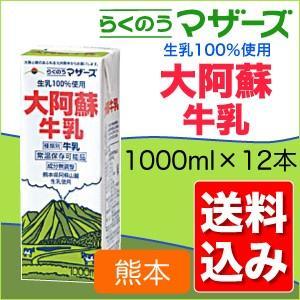 大阿蘇牛乳1L×2ケース (合計12本) らくのうマザーズ 送料無料 ix-ix