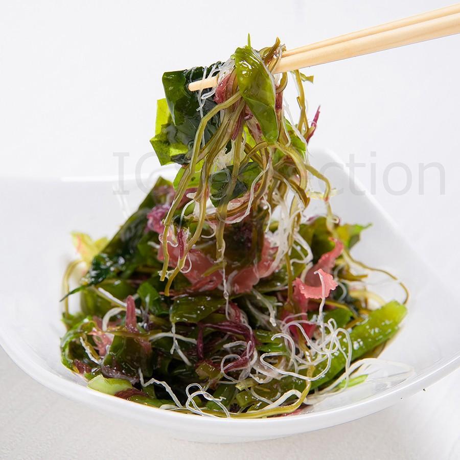 国産海藻サラダ 乾燥100g ICSselection  わかめ 茎わかめ 昆布 ふのり 赤とさか|ix-ix|03
