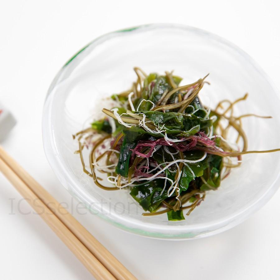 国産海藻サラダ 乾燥100g ICSselection  わかめ 茎わかめ 昆布 ふのり 赤とさか|ix-ix|05