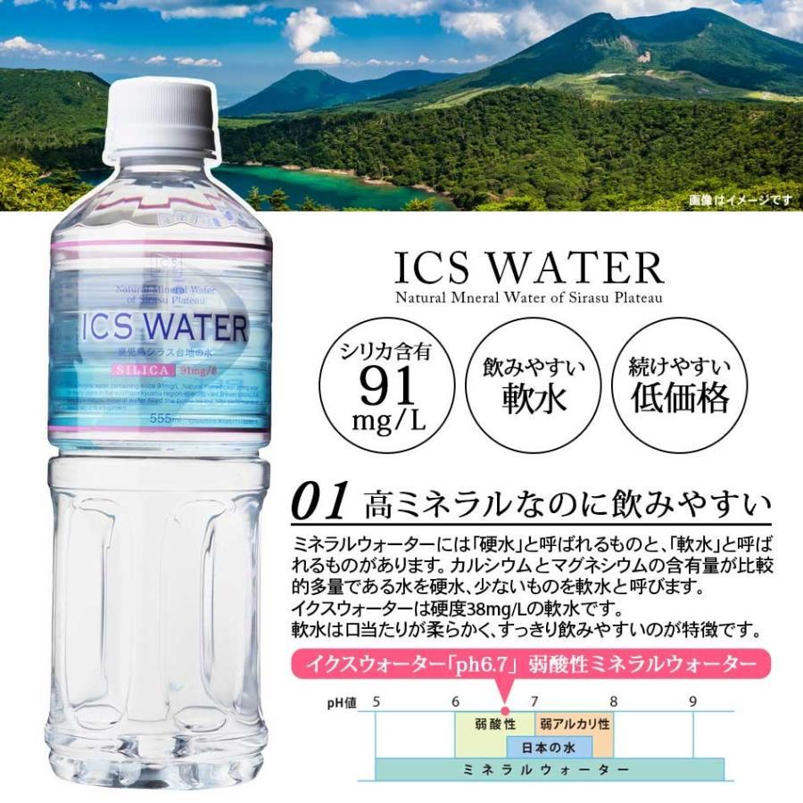 シリカ水 91mg/L イクスウォーター 555ml ペットボトル 24本 icsselection|ix-ix|03