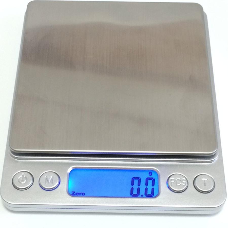 薄型 で コンパクト な 小型 卓上 はかり 重量計 3,000g まで 計量 精密 デジタルスケール ixiru01