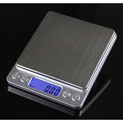薄型 で コンパクト な 小型 卓上 はかり 重量計 3,000g まで 計量 精密 デジタルスケール ixiru01 02