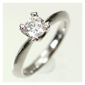 【婚約指輪特集】プラチナ·ダイヤモンド0.5ct(H·SI·GOOD·鑑定書付) エンゲージリング(婚約指輪)