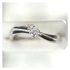 【婚約指輪特集】プラチナ·ダイヤモンド0.2ct(H·SI·GOOD·鑑定書付) エンゲージリング(婚約指輪)