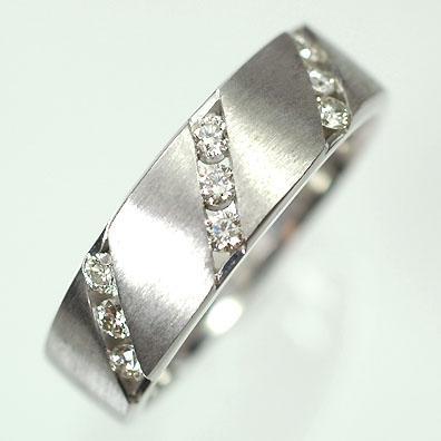 今季一番 【ホワイトゴールド】K18WG・ダイヤモンド0.3ct メンズリング(指輪), ニシアリタチョウ cb6a9c80