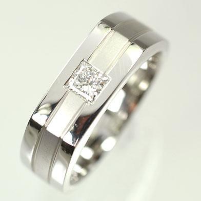 【在庫限り】 【ホワイトゴールド】K18WG・ダイヤモンド0.25ct メンズリング(指輪), WEST 3b2959fe