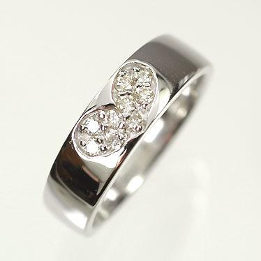 【名入れ無料】 【ホワイトゴールド】K18WG・ダイヤモンド0.11ct ピンキーリング(指輪), 三木市 ebc6d447