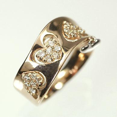 新到着 【ピンクゴールド】K18PG&WG・ダイヤモンド0.18ct ピンキーリング(指輪), エコガーデン:97271351 --- airmodconsu.dominiotemporario.com