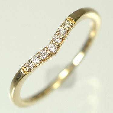【ファッション通販】 【ダイヤモンドリング】K18YG・ダイヤモンド0.04ct シンプルリング(指輪), ベクトル リポイント f00fd9ef