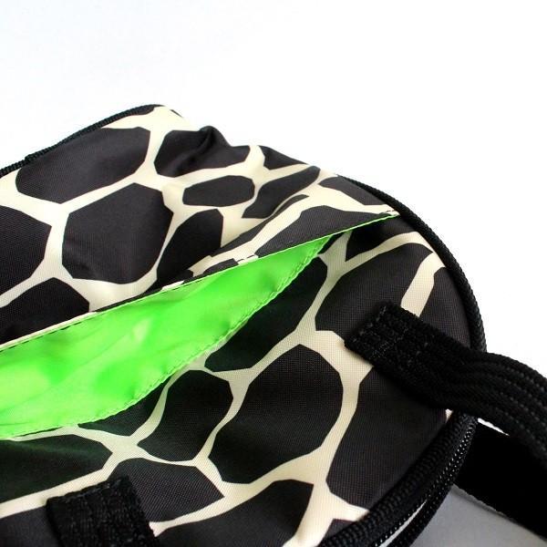 ハンナフラ 保温保冷 ツインマグポーチ 500mlペットボトル2本用 ゴルフ ラウンド ジラフブラック izumigolf 04