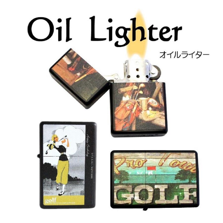 ライター オイルライター 喫煙具 ゴルフ柄 Golf lighter 全6種類 ギフト 艶消しマットブラック izumigolf