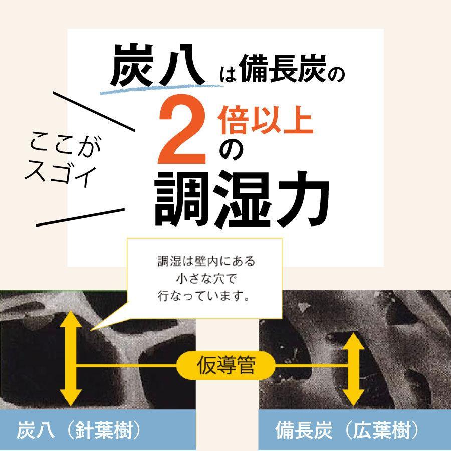 あすつく  炭八 除湿 消臭 カビ対策 特別価格 炭八スマート小袋0.4L 出雲屋炭八・調湿木炭|izumohinoki|04