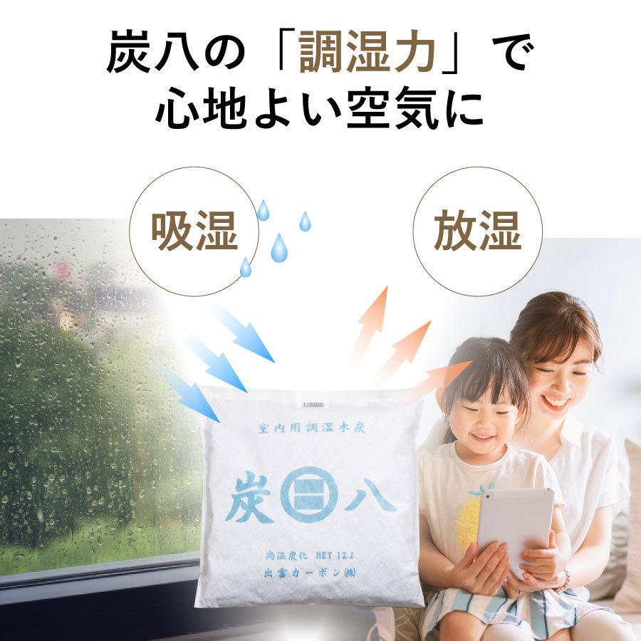 あすつく  炭八 除湿 消臭 カビ対策 特別価格 炭八スマート小袋0.4L 出雲屋炭八・調湿木炭|izumohinoki|05